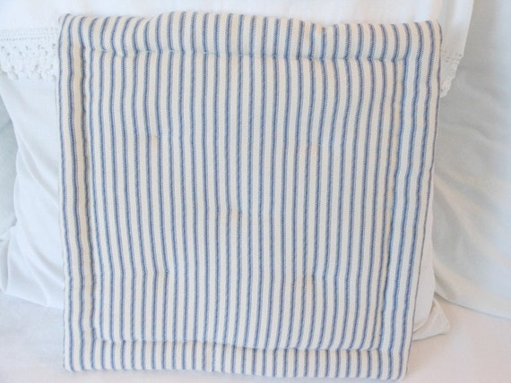Ticking Striped Seat Cushion Tufted Seat Cushion Striped