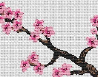 Cross Stitch Kit Cherry Blossom - Counted CrossStitch Kit