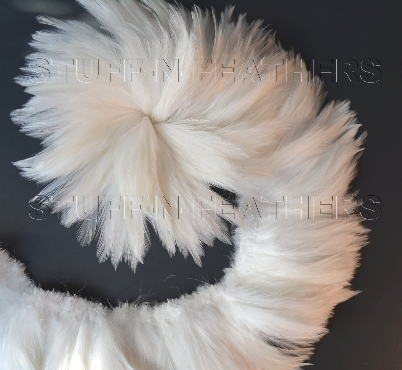 White craft feathers bulk -  27 80