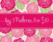 Any 5 CROCHET PATTERNS for 10 Dollars - Savings Package
