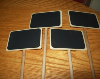 Set of 4  Chalkboard sign on Stakes  Wedding , Buffet, Birthday