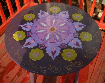 Made to Order***BoHo Chic Handpainted Accent Table