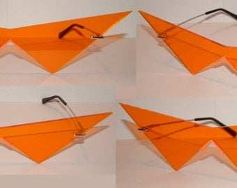Mini Gurren Lagann Kamina cosplay Glasses Orange lenses.