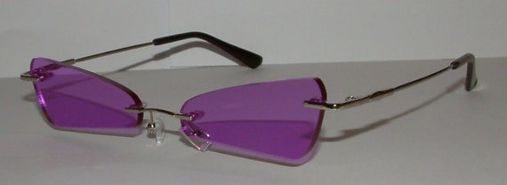 Rimless Triangular Cosplay Costume Glasses