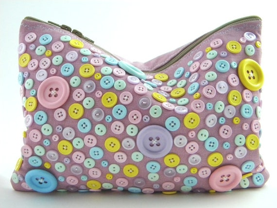 LAST ONE/SALE - Cotton Candy Button Statement Clutch