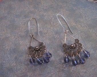 Chandelier dangle earrings swarovski teardrop