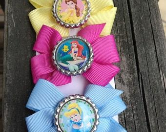 Disney Princess Inspired Bow Set, princess party favors, princess gift sets