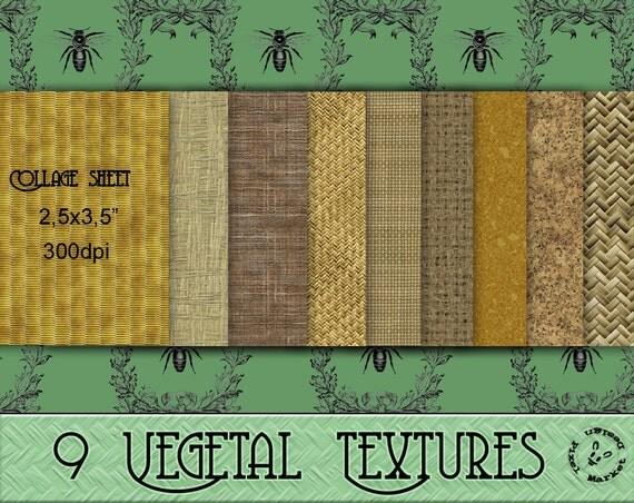 Vegetal TEXTURES Woven Straw Natural Wicker Basket Weave Burlap Paper Cork Pattern Collage Sheet Printable Download Grass Sack Tatami p20