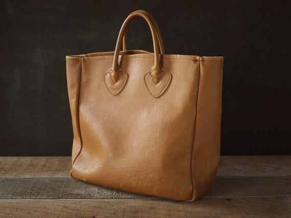 Vintage Ll Bean Leather Tote Bag