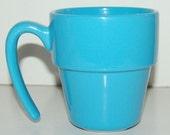 Vintage Royal Norfolk Cornflower Blue Flower Pot Mug