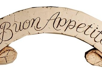 Buon Appetito Italian Kitchen Wall Plaque and Door Topper