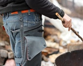 Charcoal Grey Utility Leg Bag with Leg Strap and Multi Purpose Belt