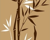 """Wall Decal Bamboo TreeDecals Bedroom Living Room Wall Art Home Decor Crane Bird Large Removable Vinyl Sticker Kitchen Chinese Mural 84"""" High"""