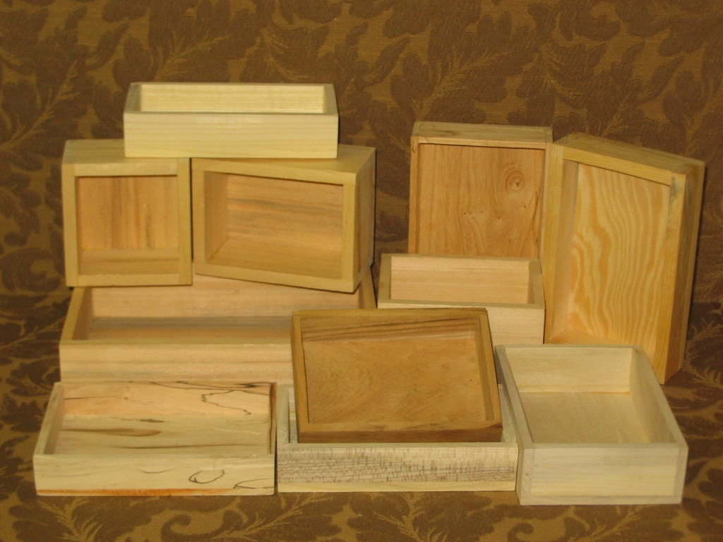 Unfinished Wood Craft Boxes Without Lids Package Sale Deal
