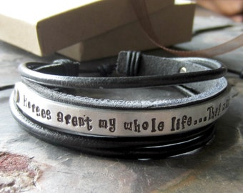 Hand Stamped Leather Cuff-Equestrian or Horse Lover Gift
