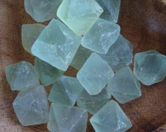 Green Fluorite Octahedron Crystals R33
