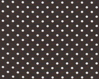 SALE | Certified organic cotton fabric - polka dot fabric in brown cotton sheeting by Cloud 9 - 1/2 Yard