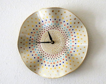Polka Dot Wall Clock, Decor and Housewares, Home Decor, Unique Wall Clocks, Home and Living, Unique Gift For Her