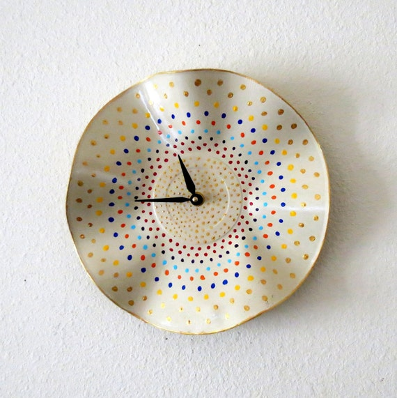 Wall Clock, Etsy Art,  Shabby Chic Clock, Decor and Housewares, Home Decor, Unique Wall Clocks, Home and Living, Unique Gift For Her