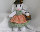 Miss Essa Rabbit - soft, cuddly, hand made toy rabbit