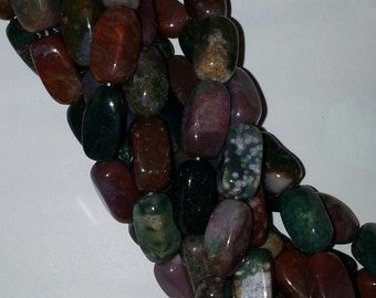 Fancey Jasper Beads 9 x18 mm Sqare nuggets