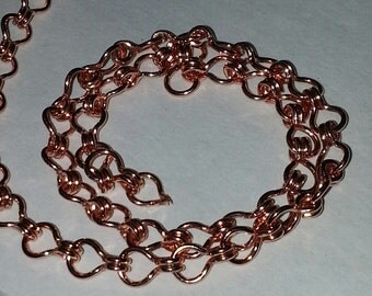 Solid Copper Ladder Chain CC200