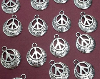 Pewter Peace Sign pendants