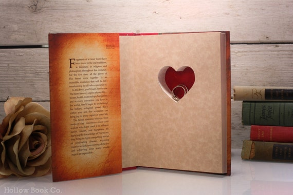Hollow Book Safe with Heart - The Secret