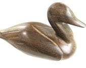 Duck carving in Ironwood, wood carving, handmade wood carving