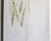 field 2,  quiet painting of grasses with milk paint on reclaimed wood - tanialove