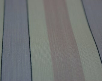 Classy Silk Pinstripe-WHITE PINK LAVENDER Sold By Single Roll