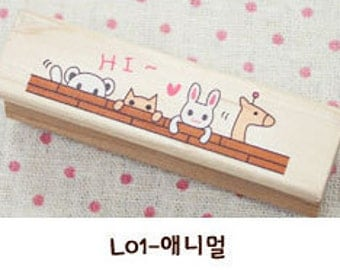 1 Pcs Korea DIY Wood Rubber Stamp-Lace Stamps L01