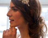 Vintage bridal Headband , brides hair band, headress  diamantes and pearl