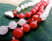 The Love Mala - Knotted Mala Beads - Yoga Prayer Beads - Mantra Meditation Stones