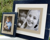 Distressed Picture Frame, 8x10 Frame, Double Wood Mats, Beach House Picture Frame