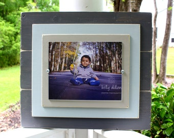 Rustic Picture Frames, 8x10 Picture Frame, Distressed Picture Frame, Grey Picture Frame
