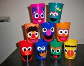 SESAME STREET BIRTHDAY party favor cups (price is for 1 cup, add any quantity)