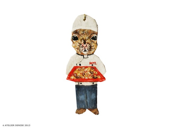 Nutz the Squirrel Chef   Ornament