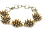 SALE // 50% off // spike bracelet // oxidized bronze