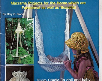 At home with Macrame Pattern Book Craft Publications No. 7324