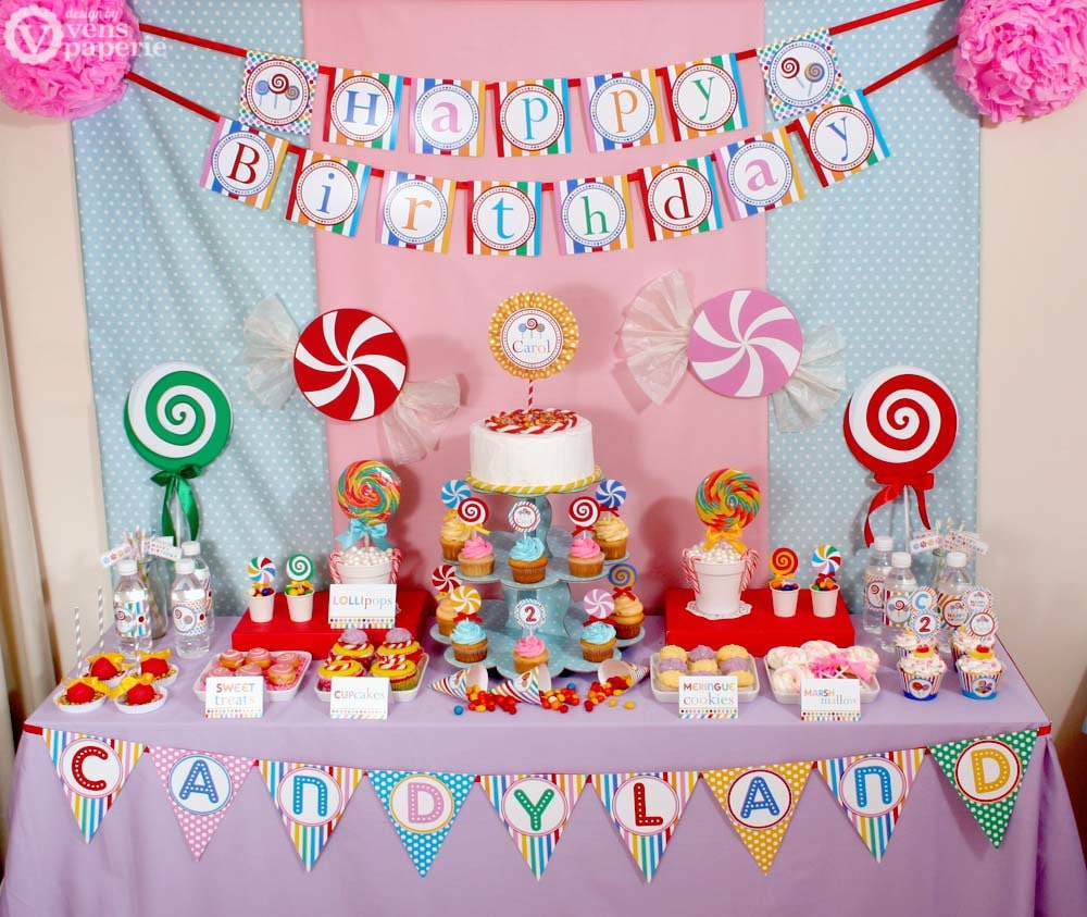 Candyland Birthday Party Package Personalized FULL By