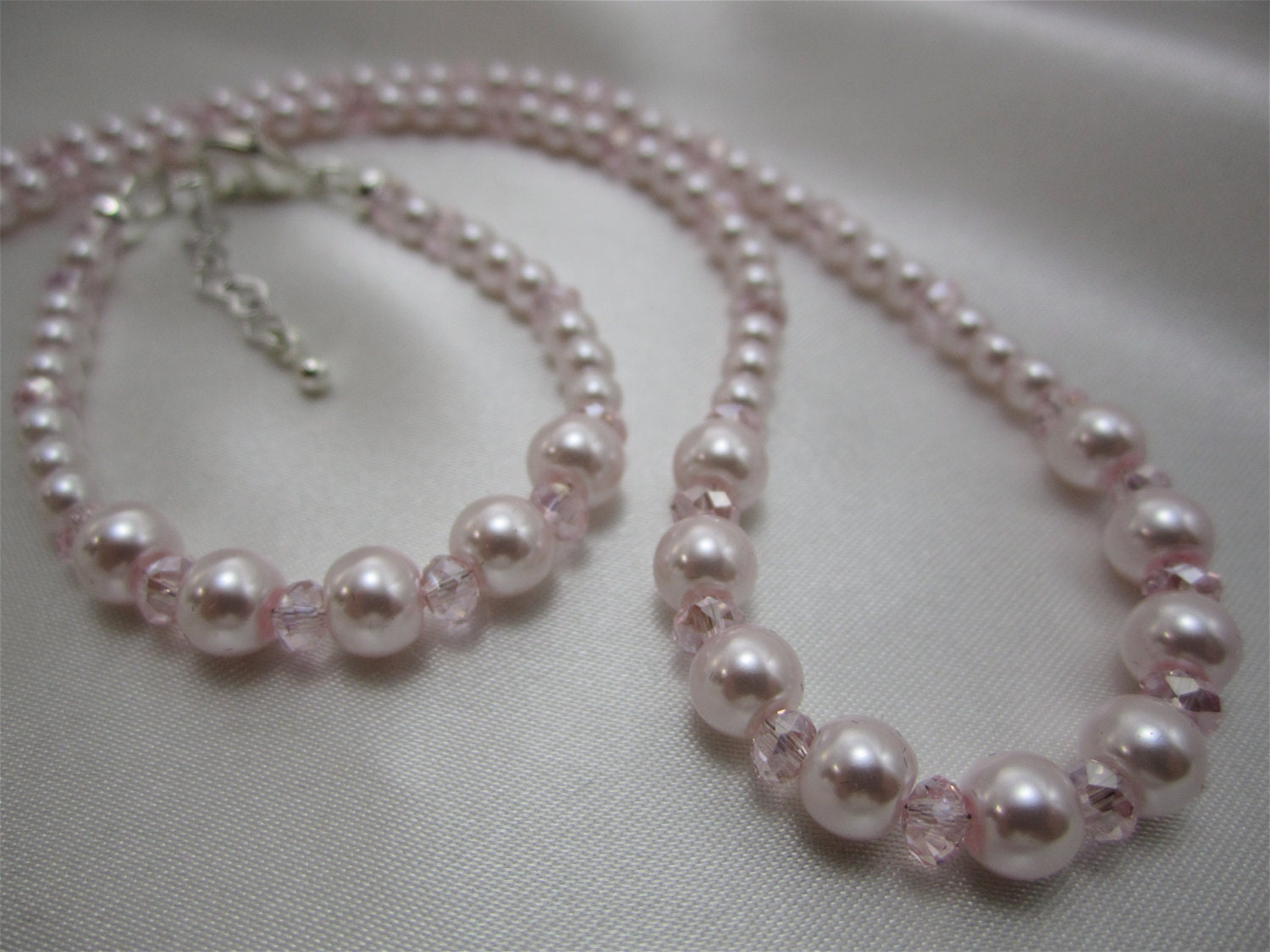Teen Pearl Necklace - Pink Bra Tits-2178