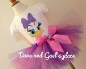 Cute Daisy Duck tutu with chevron tulle and shirt/onesie