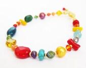 Rainbow Mixed Gem Bracelet