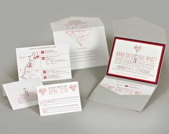 Wedding Invitations - Anna Collection