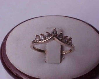 Estate Vintage  14k Yellow Gold  Cubic Zirconia  Ring