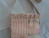 Hip Bag, Gypsy purse, Soft colors, Pink