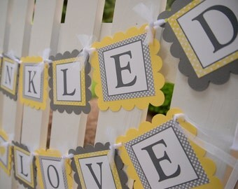Sprinkled with love banner, sprinkle baby shower decorations, baby sprinkle decorations, baby boy sprinkle shower decorations, baby girl