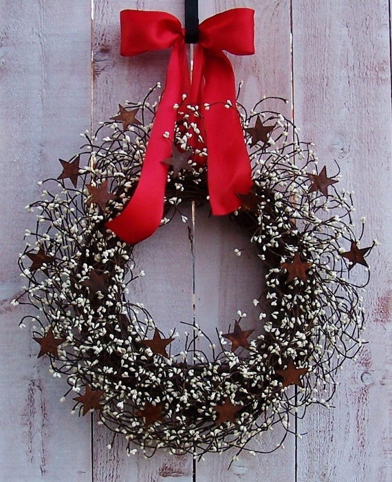 Spring wreath wedding wreath front door wreath summer for Door garland christmas