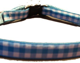 XS - Small, Blue Gingham Collar